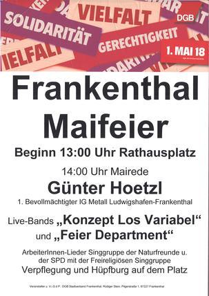 1. Maiveranstaltung 2018 Frankenthal