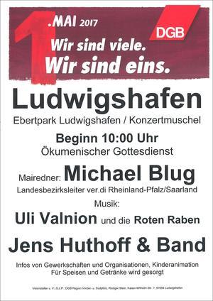 Plakat 1. Mai 2017 Ludwigshafen