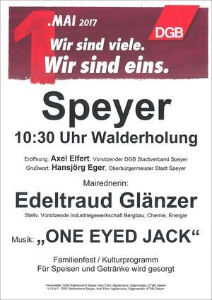 Plakat 1. Mai 2017 Speyer
