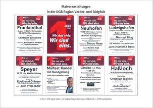 1. Maiveranstaltungen in der DGB Reg. Vorder- und Südpfalz