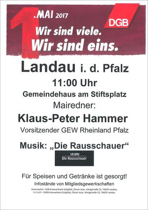 Plakat 1. Mai 2017 Landau