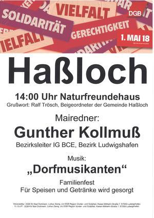1. Mai 2018 Haßloch