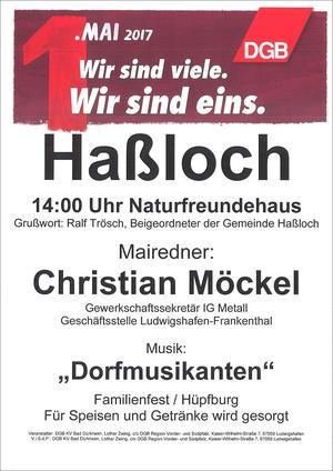 Plakat 1. Mai 2017 Haßloch