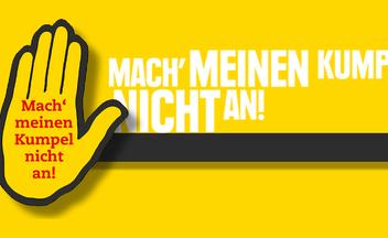 Gelbe hand Logo Kumpelverein Mach meinen Kumpel nicht an